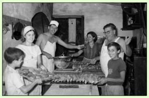Família Serra Pons a l'obrador